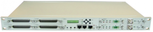 """IDU fitted with 2 modem card and 4 x 8E1 """"Service Cards"""""""